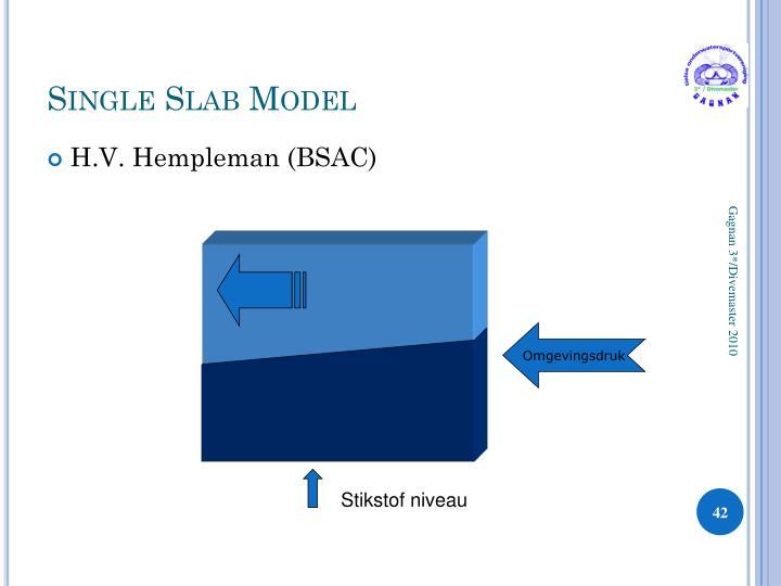 Single Slab Model