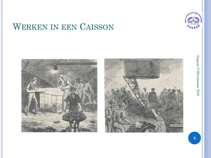Werken in een Caisson
