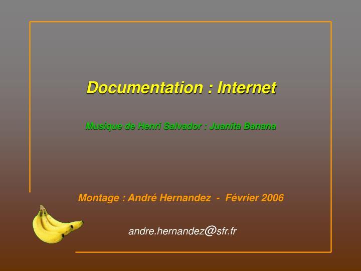 Documentation : Internet