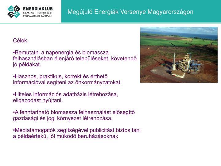 Megújuló Energiák Versenye Magyarországon