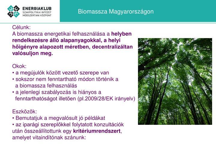 Biomassza Magyarországon