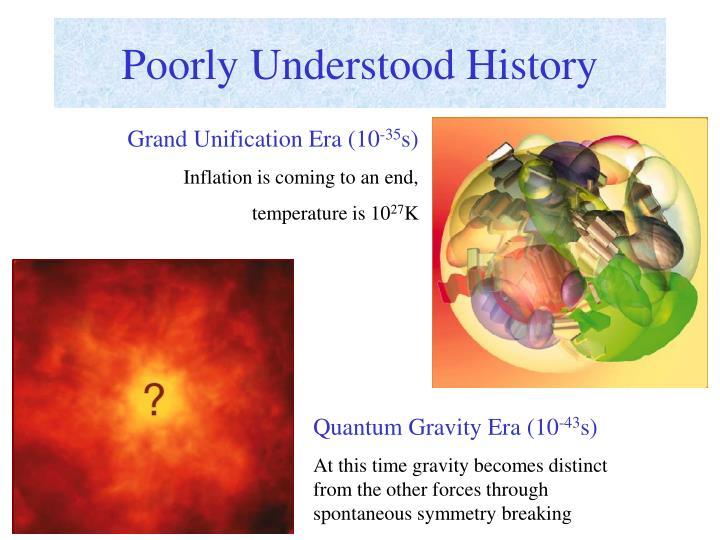 Poorly Understood History
