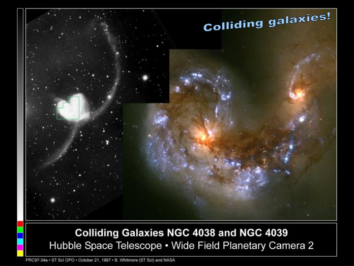 Colliding galaxies!