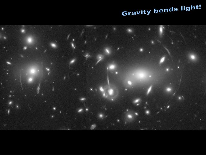Gravity bends light!