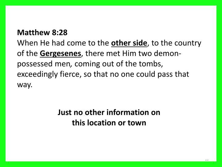 Matthew 8:28