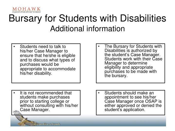 Bursary for Students with Disabilities