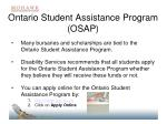 ontario student assistance program osap