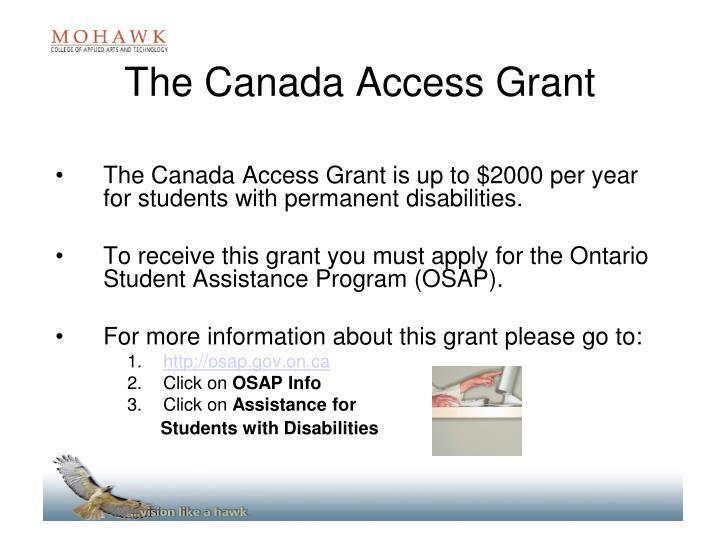 The Canada Access Grant