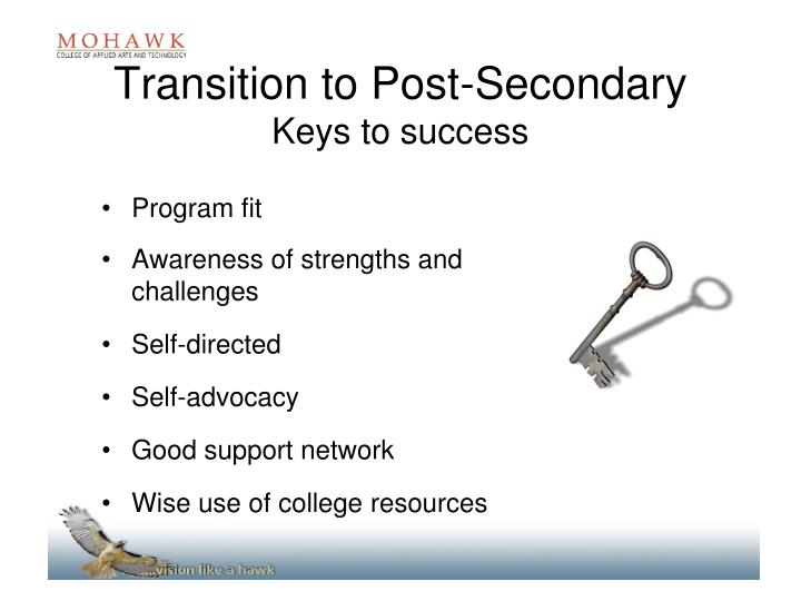 Transition to Post-Secondary