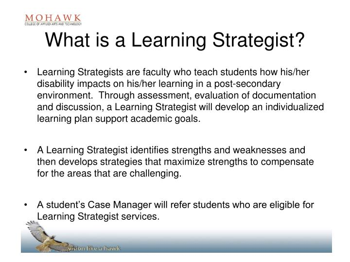 What is a Learning Strategist?