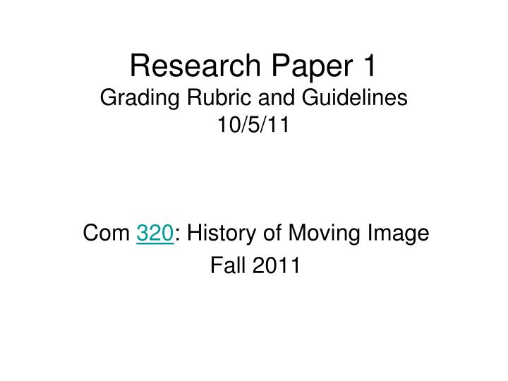 rubrics in writing a research paper
