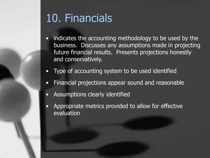 10. Financials