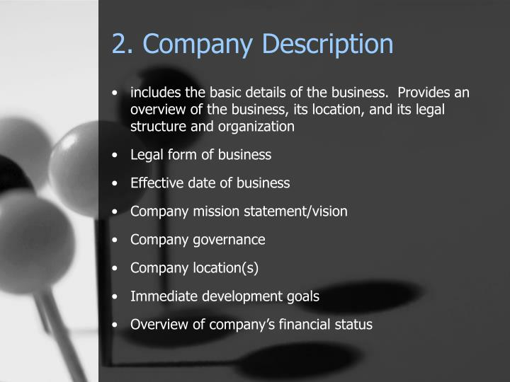 2. Company Description
