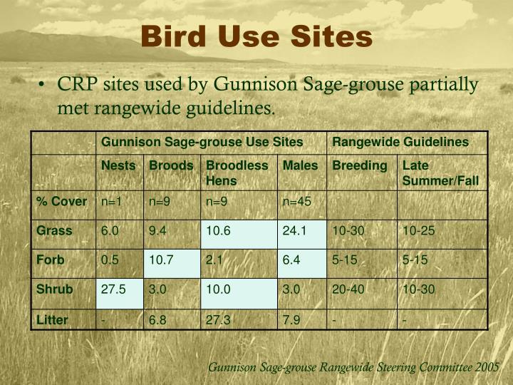 Bird Use Sites