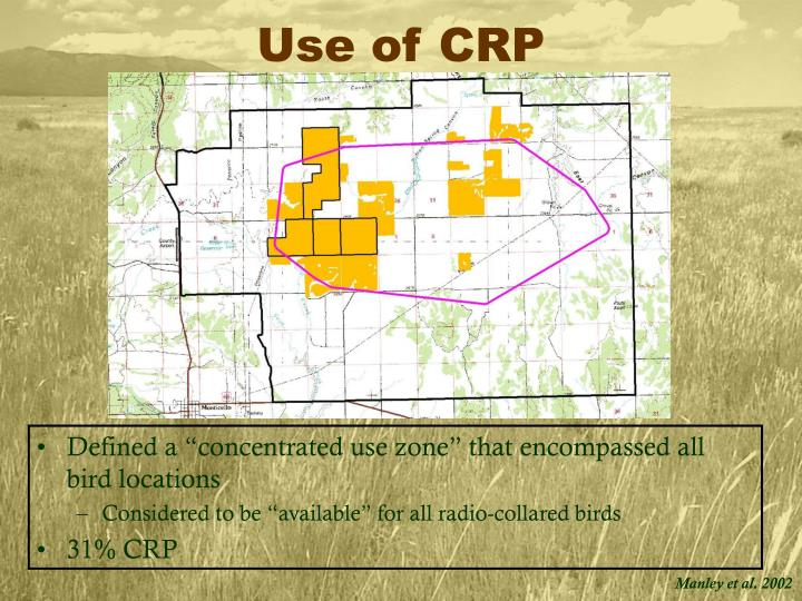 Use of CRP