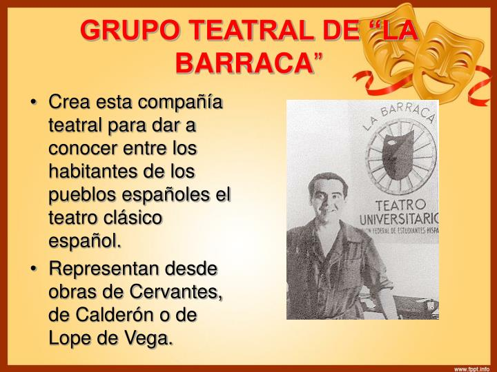 "GRUPO TEATRAL DE ""LA BARRACA"