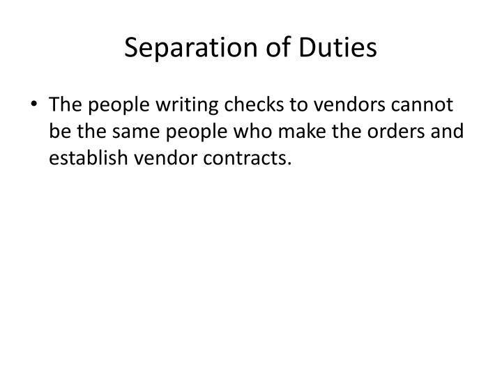 Separation of Duties