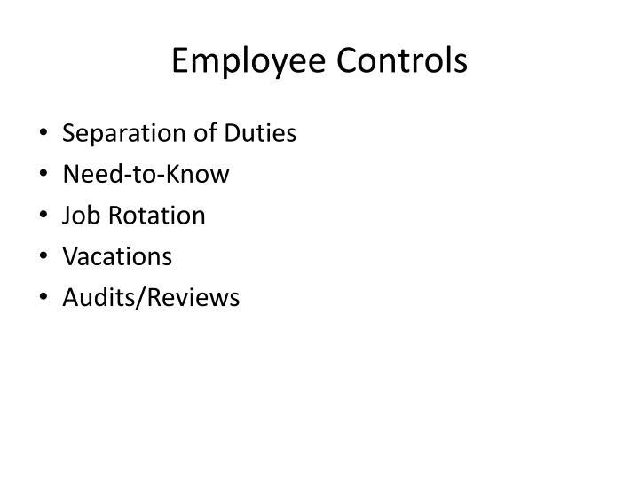 Employee Controls