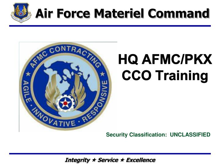 Hq afmc pkx cco training