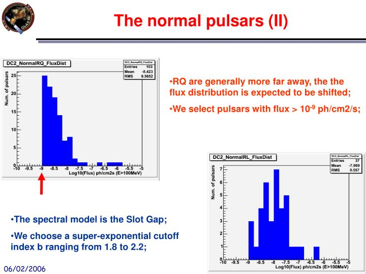 RQ are generally more far away, the the flux distribution is expected to be shifted;