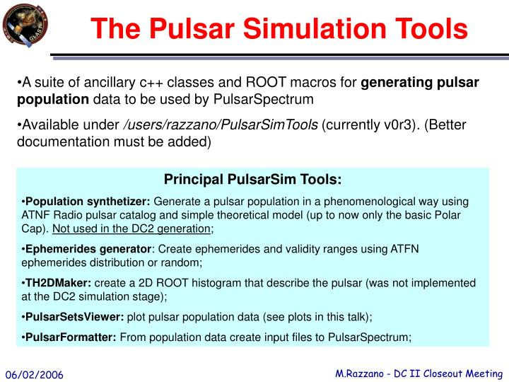 The Pulsar Simulation Tools