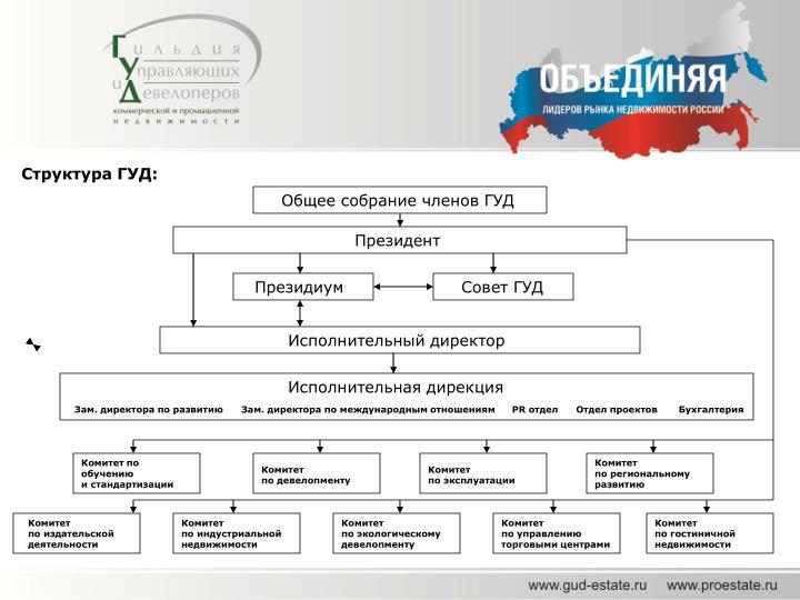 Структура ГУД: