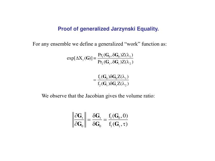 Proof of generalized Jarzynski Equality.