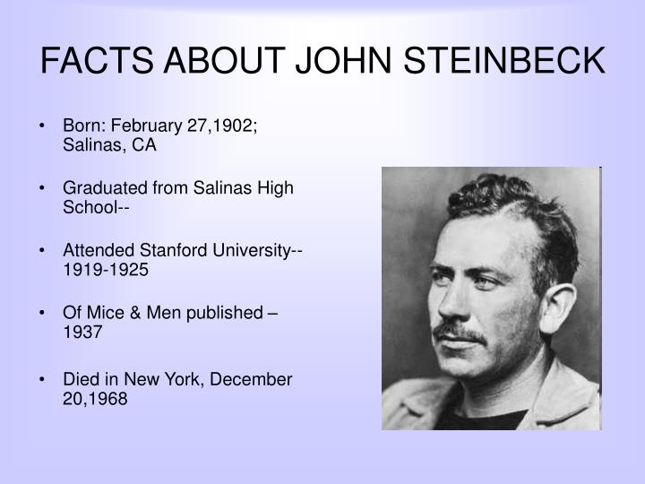 FACTS ABOUT JOHN STEINBECK