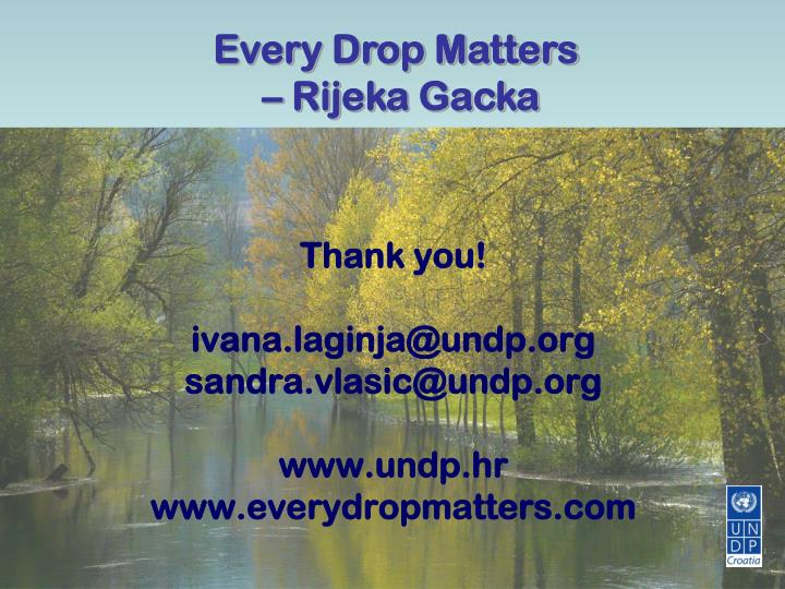 Every drop matters essay