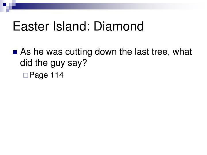 Easter Island: Diamond