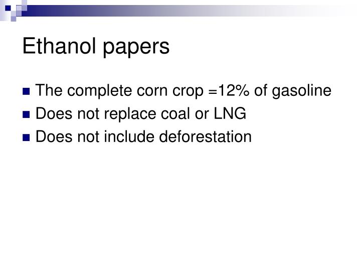 Ethanol papers