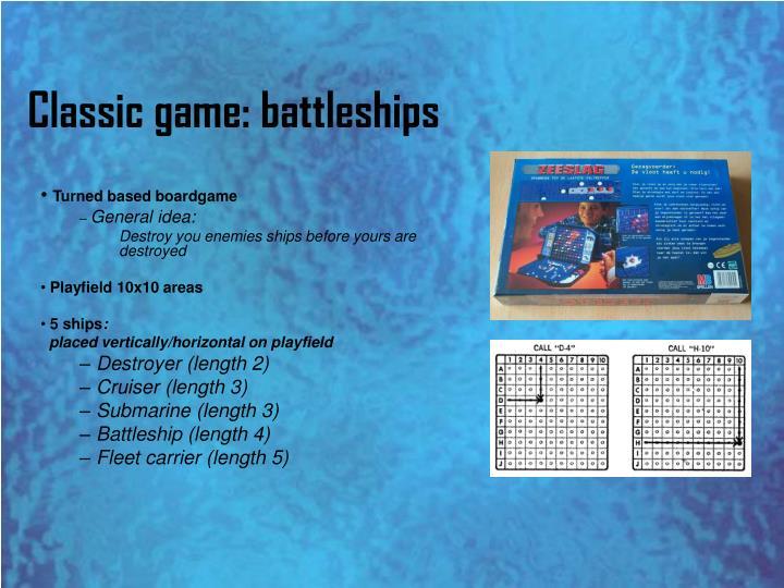 Classic game: battleships