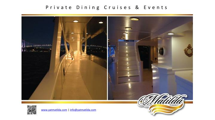 Private Dining Cruises & Events