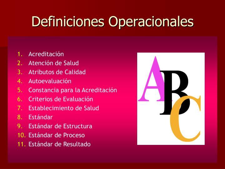 Definiciones Operacionales