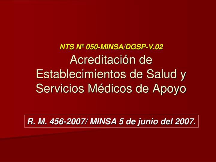 NTS Nº 050-MINSA/DGSP-V.02