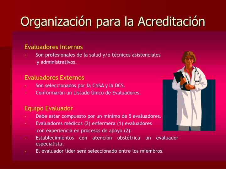 Organización para la Acreditación