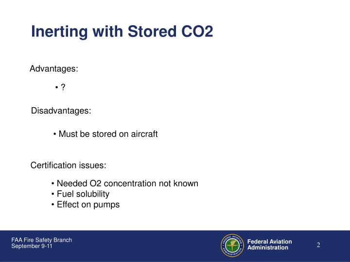 Inerting with Stored CO2