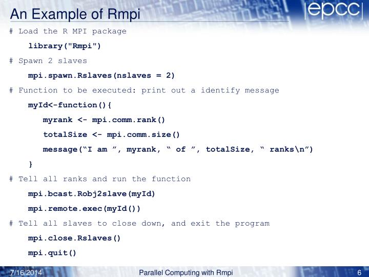 An Example of Rmpi