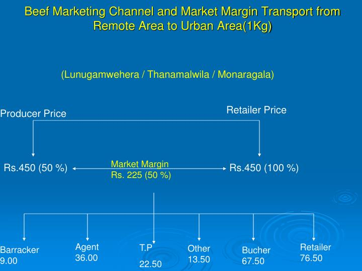 Beef Marketing Channel and Market Margin Transport from Remote Area to Urban Area(1Kg)