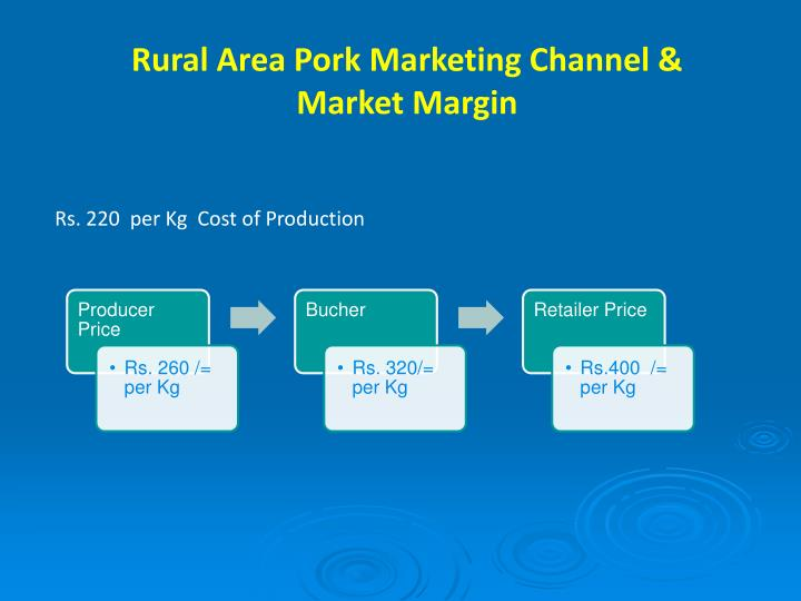 Rural Area Pork Marketing Channel & Market Margin