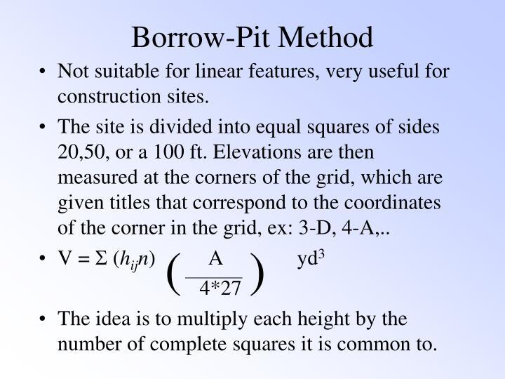 Borrow-Pit Method