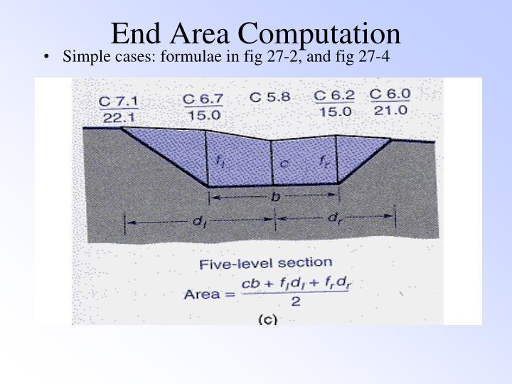 End Area Computation