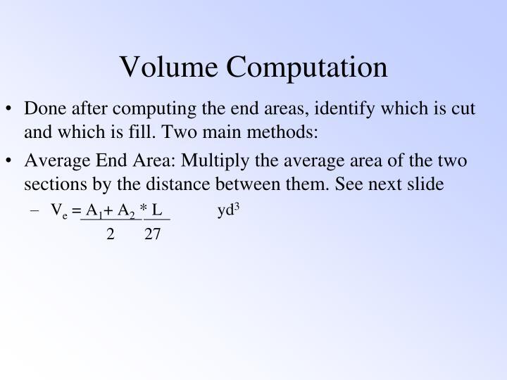 Volume Computation