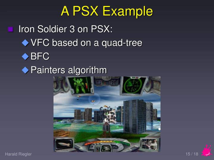 A PSX Example