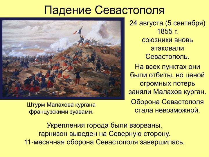 Падение Севастополя