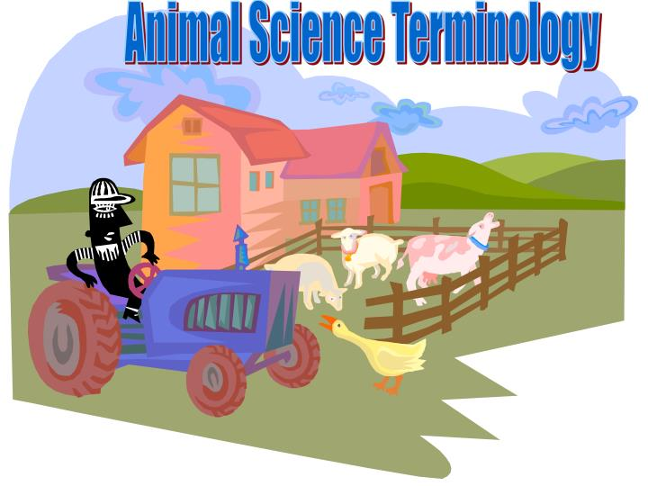 Animal Science Terminology