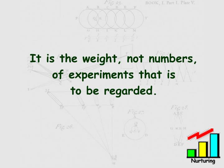 It is the weight, not numbers,