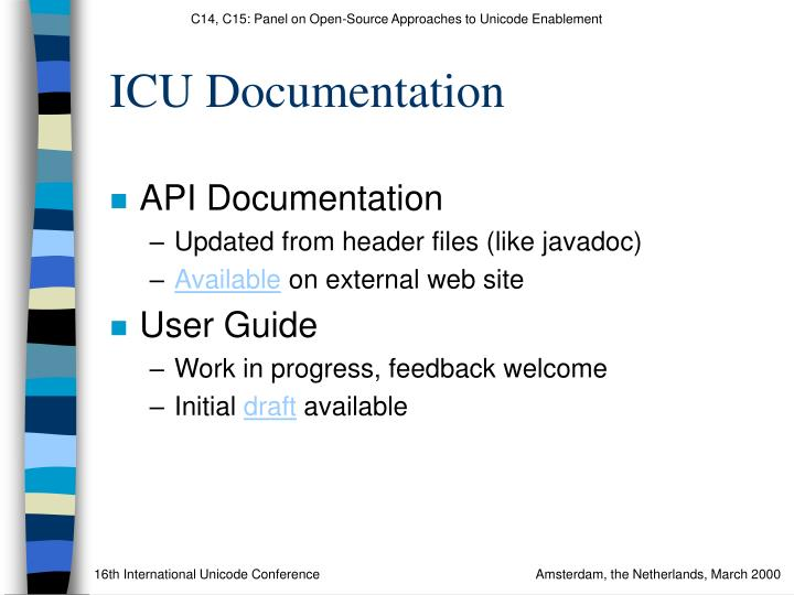 ICU Documentation