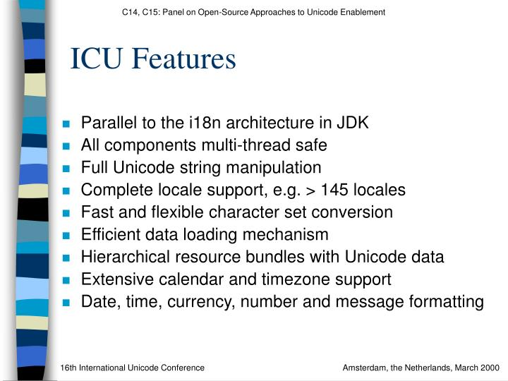 ICU Features