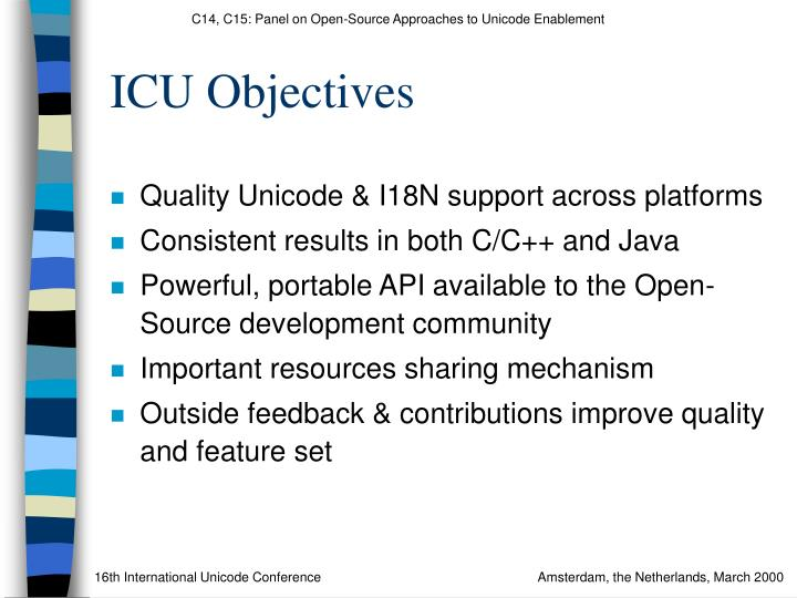 ICU Objectives